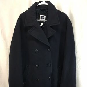 Gap Pea Coat Jacket Navy Blue Double Breasted